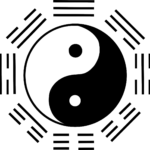yin yang et 8 trigrammes.